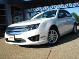 2010 White Suede Ford Fusion S #20230958