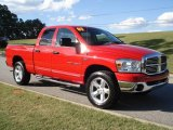 2007 Flame Red Dodge Ram 1500 SLT Quad Cab 4x4 #20240182