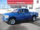 2007 Electric Blue Pearl Dodge Ram 1500 Big Horn Edition Quad Cab 4x4 #20230154