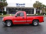 2000 Victory Red Chevrolet Silverado 1500 Regular Cab #20303916