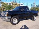 2005 Black Chevrolet Silverado 1500 Regular Cab 4x4 #20307109