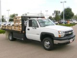 2006 Summit White Chevrolet Silverado 3500 Regular Cab Chassis Stake Truck #20303763
