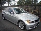 2007 Titanium Silver Metallic BMW 3 Series 335i Sedan #20297078