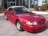 1999 Laser Red Metallic Ford Mustang V6 Convertible #2016224