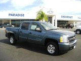 2009 Blue Granite Metallic Chevrolet Silverado 1500 LT Crew Cab #20367728