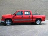 2007 Victory Red Chevrolet Silverado 1500 Classic LS Crew Cab #20361600