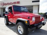 2006 Flame Red Jeep Wrangler Sport 4x4 #20367688