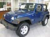 2010 Deep Water Blue Pearl Jeep Wrangler Sport 4x4 #20457276