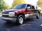 2002 Dark Carmine Red Metallic Chevrolet Silverado 1500 LS Extended Cab 4x4 #20461423