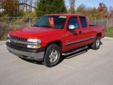 2002 Victory Red Chevrolet Silverado 1500 LS Extended Cab 4x4 #20465812