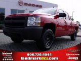 2007 Victory Red Chevrolet Silverado 1500 Work Truck Extended Cab 4x4 #20454930