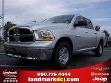 2010 Bright Silver Metallic Dodge Ram 1500 SLT Crew Cab #20454895