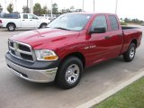 2010 Inferno Red Crystal Pearl Dodge Ram 1500 ST Quad Cab #20457252