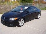 2007 Nighthawk Black Pearl Honda Civic EX Coupe #20465820