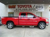 2006 Flame Red Dodge Ram 1500 SLT Quad Cab 4x4 #20448542