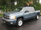 2009 Blue Granite Metallic Chevrolet Silverado 1500 LT Crew Cab 4x4 #20451187