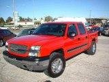 2004 Victory Red Chevrolet Silverado 1500 Z71 Crew Cab 4x4 #20537545