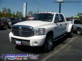 2008 Bright White Dodge Ram 3500 Laramie Mega Cab 4x4 Dually #20524340