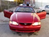 1996 Laser Red Metallic Ford Mustang V6 Convertible #20516663