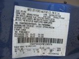 2004 Focus Color Code for French Blue Metallic - Color Code: M9