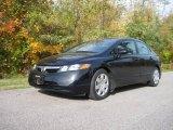 2007 Nighthawk Black Pearl Honda Civic LX Sedan #20538796