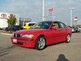 2002 Electric Red BMW 3 Series 330i Sedan #20607661