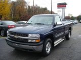 2002 Indigo Blue Metallic Chevrolet Silverado 1500 Work Truck Regular Cab 4x4 #20607149
