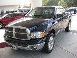 2002 Patriot Blue Pearlcoat Dodge Ram 1500 SLT Quad Cab #20609349