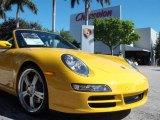 2008 Speed Yellow Porsche 911 Carrera S Cabriolet #2057240