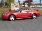 2001 Laser Red Metallic Ford Mustang V6 Coupe #20663571