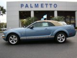 2007 Windveil Blue Metallic Ford Mustang V6 Premium Convertible #20663540
