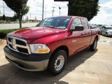 2010 Inferno Red Crystal Pearl Dodge Ram 1500 ST Quad Cab #20666784