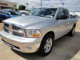 2010 Bright Silver Metallic Dodge Ram 1500 Big Horn Quad Cab #20666786
