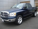 2007 Patriot Blue Pearl Dodge Ram 1500 SLT Quad Cab #20655383