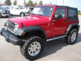 2010 Flame Red Jeep Wrangler Sport 4x4 #20730614