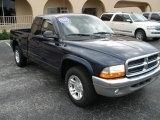 2004 Patriot Blue Pearl Dodge Dakota SLT Quad Cab #20729394