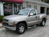 2000 Light Pewter Metallic Chevrolet Silverado 1500 LS Regular Cab 4x4 #20732658