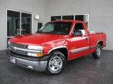 2000 Victory Red Chevrolet Silverado 1500 Regular Cab #20721023