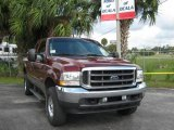 2004 Dark Toreador Red Metallic Ford F250 Super Duty XLT SuperCab 4x4 #20725739