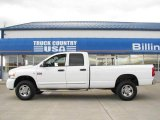 2008 Bright White Dodge Ram 3500 Laramie Quad Cab 4x4 #20735901
