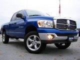 2007 Electric Blue Pearl Dodge Ram 1500 Big Horn Edition Quad Cab 4x4 #20720401