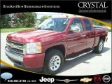 2007 Sport Red Metallic Chevrolet Silverado 1500 LT Extended Cab 4x4 #20874815