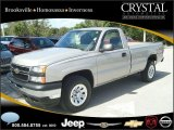2006 Silver Birch Metallic Chevrolet Silverado 1500 Work Truck Regular Cab 4x4 #20874928