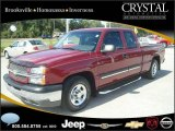 2004 Sport Red Metallic Chevrolet Silverado 1500 LS Extended Cab #20874762
