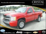 2008 Victory Red Chevrolet Silverado 1500 LS Regular Cab 4x4 #20874805