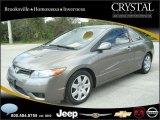 2007 Galaxy Gray Metallic Honda Civic LX Coupe #20874930