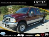 2004 Dark Toreador Red Metallic Ford F250 Super Duty XLT Crew Cab 4x4 #20874846