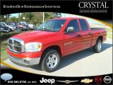 2007 Flame Red Dodge Ram 1500 SLT Quad Cab #20874841