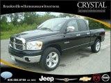 2008 Brilliant Black Crystal Pearl Dodge Ram 1500 Big Horn Edition Quad Cab #20874776