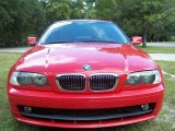 2002 Electric Red BMW 3 Series 325i Coupe #20919464